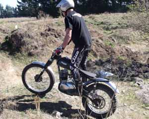 Classic Trials Mel Banks. Triumph TrialsCub